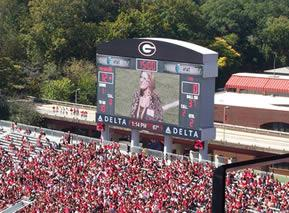 Professor Eby on the UGA Football Scoreboard
